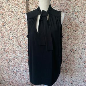 Tommy Hilfiger tie neck sleeve less blouse